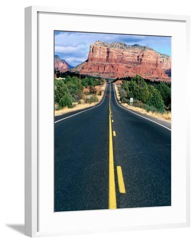 Road Into Sedona, Sedona, U.S.A.-Ann Cecil-Framed Art Print