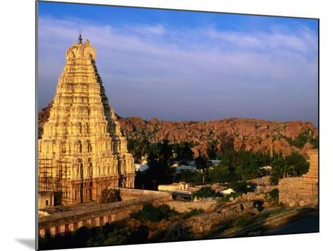 Overhead of Virupaksha Temple, Hampi Bazaar and Surrounding Hills from Hemakuta Hill, Hampi, India-Peter Ptschelinzew-Mounted Photographic Print
