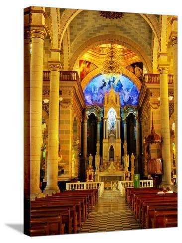 Interior of Cathedral, Mazatlan, Mexico-Richard Cummins-Stretched Canvas Print