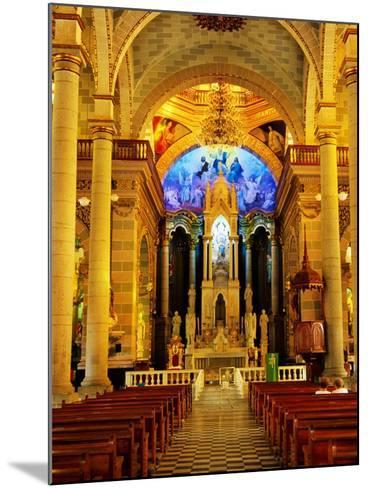 Interior of Cathedral, Mazatlan, Mexico-Richard Cummins-Mounted Photographic Print