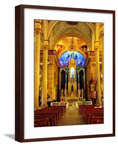 Interior of Cathedral, Mazatlan, Mexico-Richard Cummins-Framed Art Print