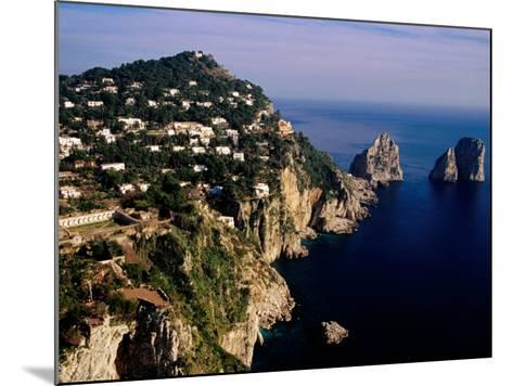Rocky Coastline and Isola Faraglioni Offshore Rocks from Gardens of Augustus, Capri, Italy-Pershouse Craig-Mounted Photographic Print