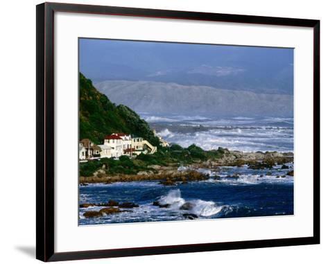 Storm Waves Lash Coast at Island Bay, Wellington, New Zealand-Paul Kennedy-Framed Art Print