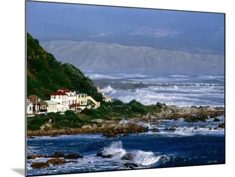 Storm Waves Lash Coast at Island Bay, Wellington, New Zealand-Paul Kennedy-Mounted Photographic Print