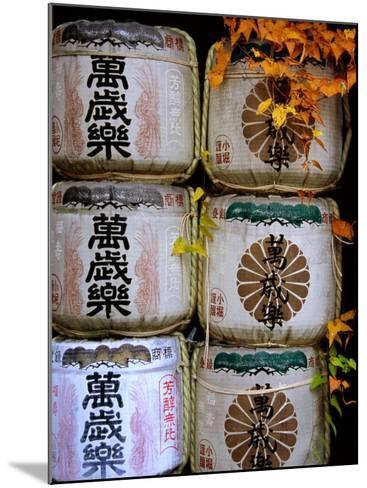 Stack of Saki Barrels, Kanazawa, Japan-Frank Carter-Mounted Photographic Print