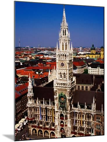 Overhead of Neo-Gothic Neues Rathaus (New Town Hall), Munich, Germany-Krzysztof Dydynski-Mounted Photographic Print