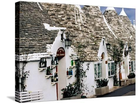 White-Washed Trulli Houses, Alberobello, Italy-Oliver Strewe-Stretched Canvas Print