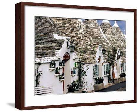 White-Washed Trulli Houses, Alberobello, Italy-Oliver Strewe-Framed Art Print