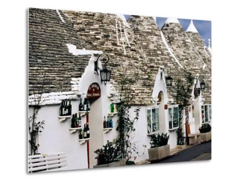 White-Washed Trulli Houses, Alberobello, Italy-Oliver Strewe-Metal Print