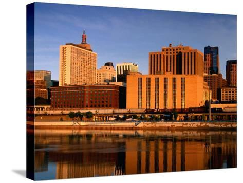 Mississippi River and City Skyline, St. Paul, United States of America-Richard Cummins-Stretched Canvas Print