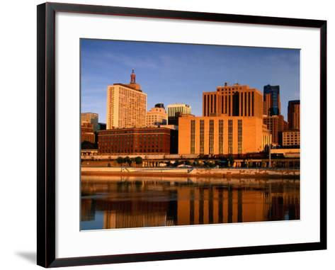 Mississippi River and City Skyline, St. Paul, United States of America-Richard Cummins-Framed Art Print