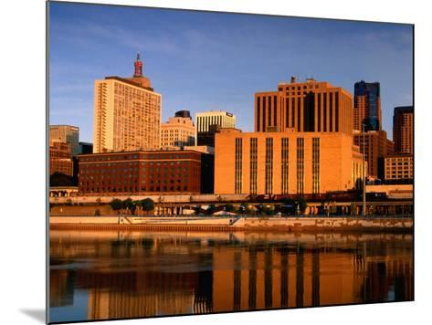 Mississippi River and City Skyline, St. Paul, United States of America-Richard Cummins-Mounted Photographic Print