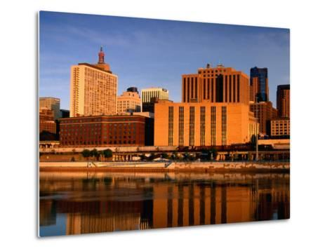 Mississippi River and City Skyline, St. Paul, United States of America-Richard Cummins-Metal Print