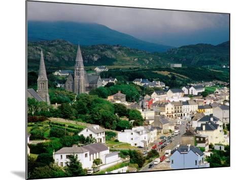 Overhead of Town with Surrounding Hills, Clifden, Ireland-Richard Cummins-Mounted Photographic Print