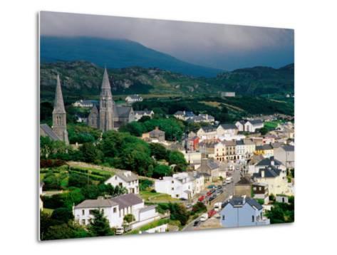 Overhead of Town with Surrounding Hills, Clifden, Ireland-Richard Cummins-Metal Print