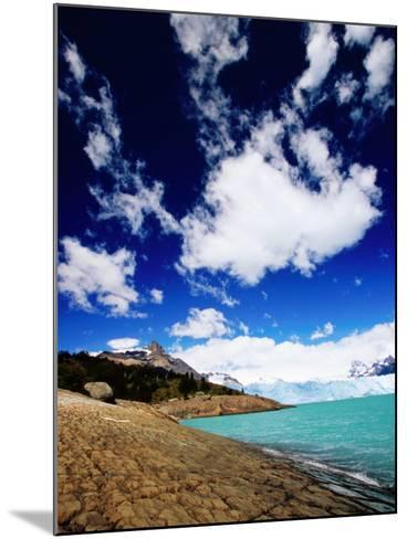 Perito Moreno Glacier and Moreno Hill, Lago Argentino, Los Glaciares National Park, Argentina-Michael Taylor-Mounted Photographic Print