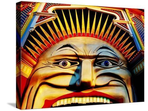 Face of Luna Park at Sunset St. Kilda, Melbourne, Australia-Richard I'Anson-Stretched Canvas Print