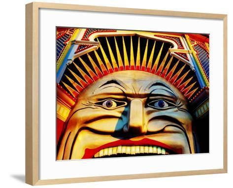 Face of Luna Park at Sunset St. Kilda, Melbourne, Australia-Richard I'Anson-Framed Art Print