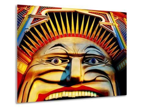 Face of Luna Park at Sunset St. Kilda, Melbourne, Australia-Richard I'Anson-Metal Print
