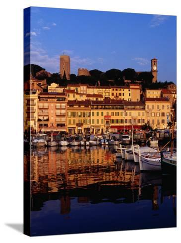 Eglise Notre Dame D'esperance Overlooking the Harbour at Dawn, Cannes, France-Richard I'Anson-Stretched Canvas Print