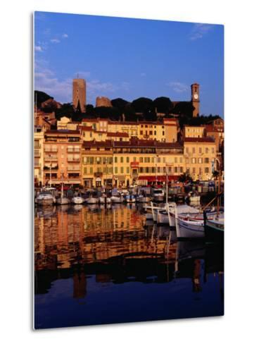 Eglise Notre Dame D'esperance Overlooking the Harbour at Dawn, Cannes, France-Richard I'Anson-Metal Print