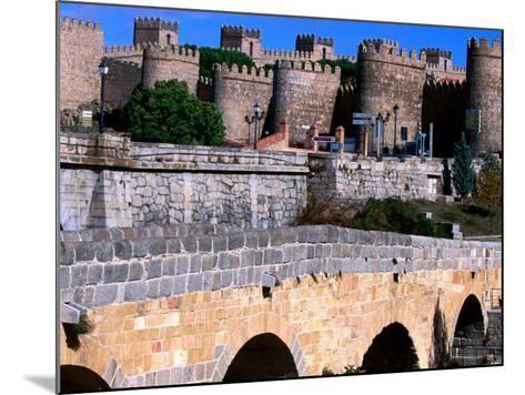 Alcazar and Stone Bridges, Avila, Spain-John Banagan-Mounted Photographic Print