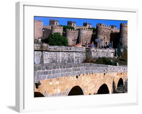 Alcazar and Stone Bridges, Avila, Spain-John Banagan-Framed Art Print