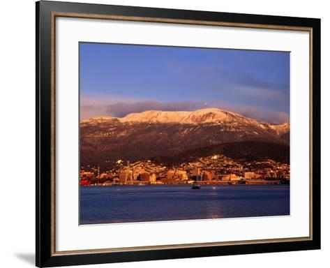 Hobart City Beside Derwent River And Below Mt Wellington Hobart