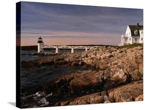 Marshall Point Lighthouse and House on Port Clyde, Maine, USA-Stephen Saks-Stretched Canvas Print