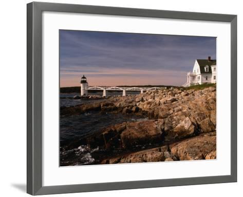 Marshall Point Lighthouse and House on Port Clyde, Maine, USA-Stephen Saks-Framed Art Print
