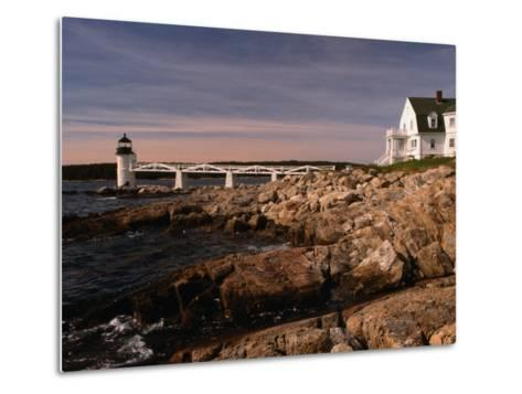 Marshall Point Lighthouse and House on Port Clyde, Maine, USA-Stephen Saks-Metal Print