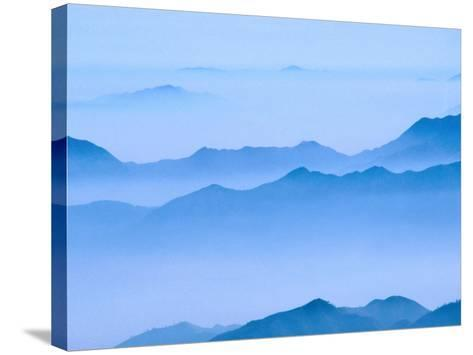 Low Cloud Over Mt. Huang Shan, Anhui, China-Keren Su-Stretched Canvas Print