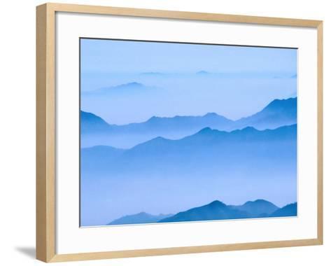 Low Cloud Over Mt. Huang Shan, Anhui, China-Keren Su-Framed Art Print