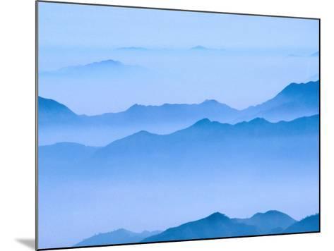 Low Cloud Over Mt. Huang Shan, Anhui, China-Keren Su-Mounted Photographic Print