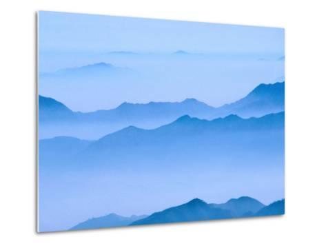 Low Cloud Over Mt. Huang Shan, Anhui, China-Keren Su-Metal Print
