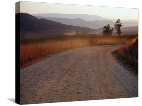 Road Between Lower Loteni and Himeville in the Southern Drakensberg Ranges, South Africa-Richard I'Anson-Stretched Canvas Print