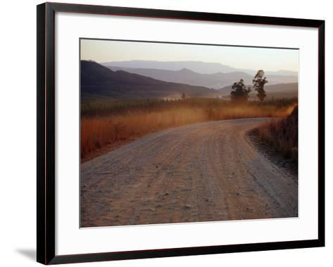 Road Between Lower Loteni and Himeville in the Southern Drakensberg Ranges, South Africa-Richard I'Anson-Framed Art Print