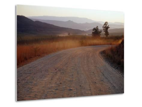 Road Between Lower Loteni and Himeville in the Southern Drakensberg Ranges, South Africa-Richard I'Anson-Metal Print