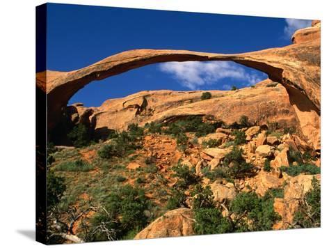 Landscape Arch, Arches National Park, Utah, USA-Carol Polich-Stretched Canvas Print