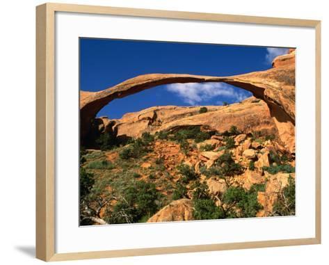Landscape Arch, Arches National Park, Utah, USA-Carol Polich-Framed Art Print