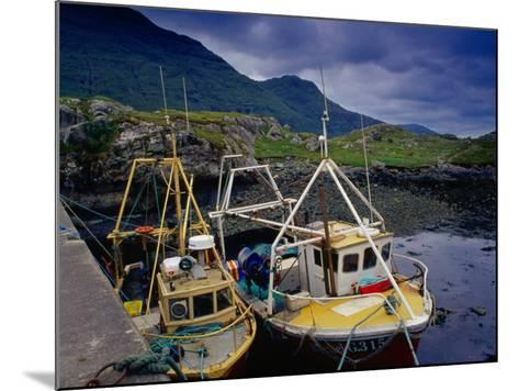Trawlers at Rosroe in Killary Harbour, Connemara, Ireland-Gareth McCormack-Mounted Photographic Print