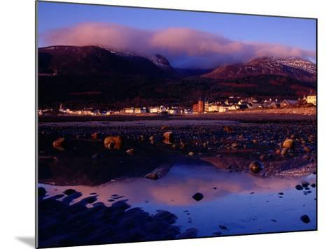 Newcastle Seafront and the Mourne Mountains at Dawn, Newcastle, Northern Ireland-Gareth McCormack-Mounted Photographic Print