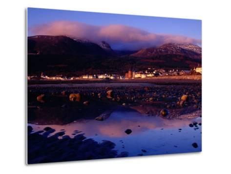 Newcastle Seafront and the Mourne Mountains at Dawn, Newcastle, Northern Ireland-Gareth McCormack-Metal Print