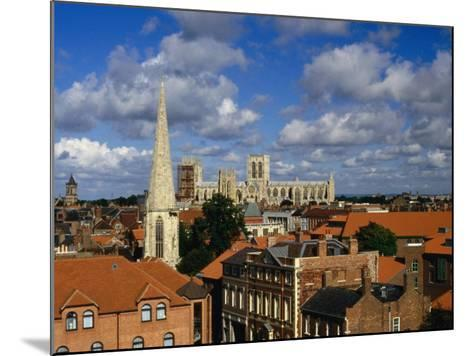 City Buildings with York Minster Cathedral in Background, York, United Kingdom-Johnson Dennis-Mounted Photographic Print