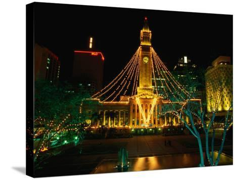 Brisbane Town Hall at Night Brisbane, Queensland, Australia-Barnett Ross-Stretched Canvas Print