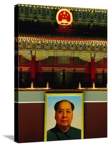 Portrait of Mao Zedong Above Gate of Heavenly Peace Bejing, China-Phil Weymouth-Stretched Canvas Print