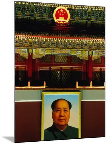 Portrait of Mao Zedong Above Gate of Heavenly Peace Bejing, China-Phil Weymouth-Mounted Photographic Print