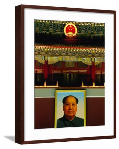 Portrait of Mao Zedong Above Gate of Heavenly Peace Bejing, China-Phil Weymouth-Framed Art Print