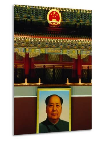 Portrait of Mao Zedong Above Gate of Heavenly Peace Bejing, China-Phil Weymouth-Metal Print