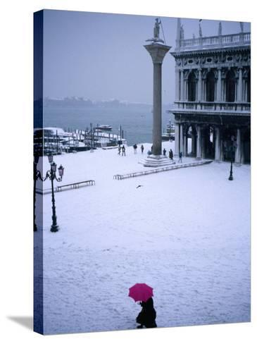 Piazetta of San Marco in Winter, Venice, Veneto, Italy-Roberto Gerometta-Stretched Canvas Print